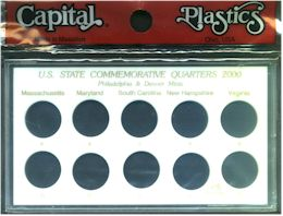 Capital Plastics 50 State Quarter Holder