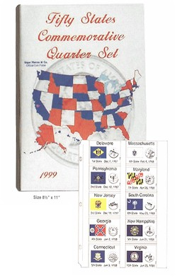 Fifty State Commemorative Quarter Binder