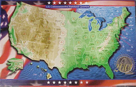 U.S. 50 State Commemorative Quarter Maps & Boards Quarter Map Of The United States on