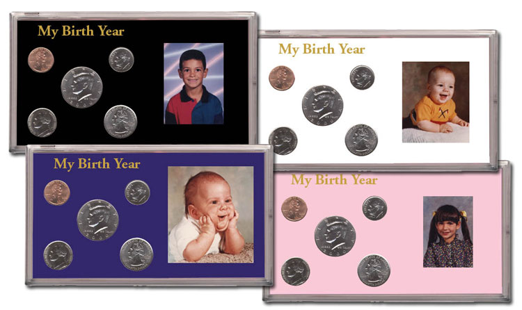 Capital Holder For 2 US Proof Sets Of 5 Coins Black Display Case Collector Gift