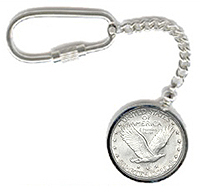 Coin Bezel Keychain Key Chain