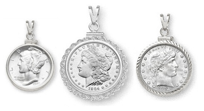 Sterling Silver Coin Bezels