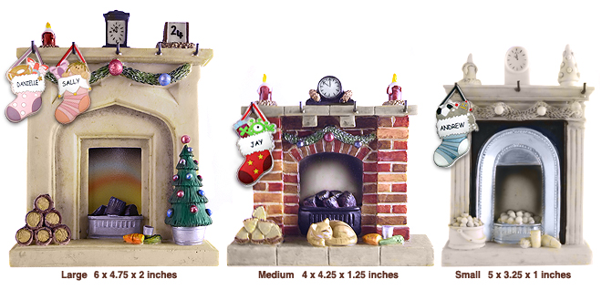 Snowy Night Fireplace - CenterCoin.com Waiting For Santa Stockings