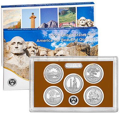 2013 America the Beautiful National Park Quarter Coin Set