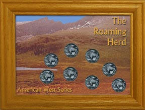 The Roaming Herd Frame with Coins