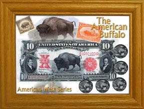 The American Buffalo Frme with Coins