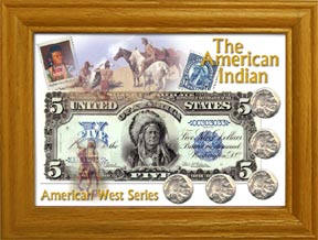 The American Indian Frame with Coins