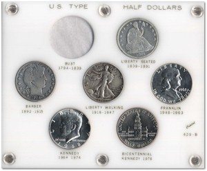 Half Dollar Type Coin Set