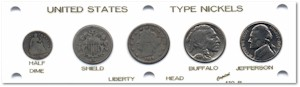 Nickel Type Coin Set