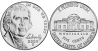 Return to Monticello Jefferson Nickels