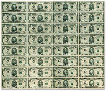 Uncut Currency Sheets